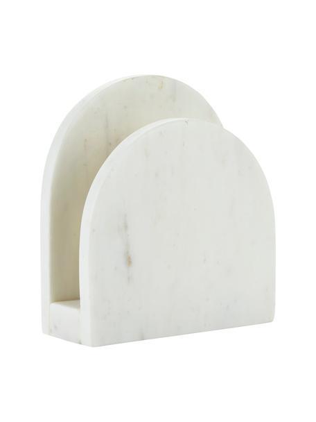Marmor-Serviettenhalter Charlton, Marmor, Weiß, 15 x 14 cm