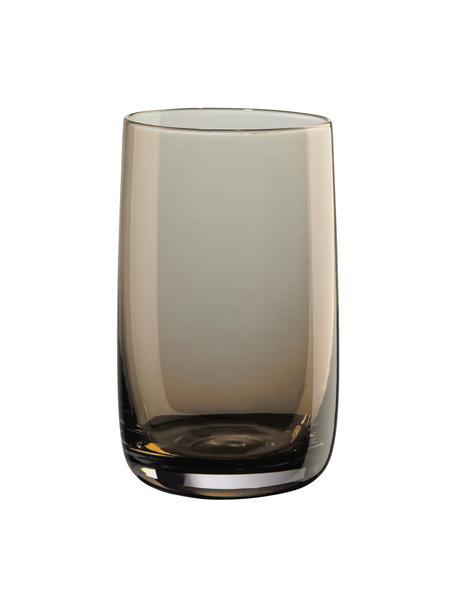 Wassergläser Colored, 6 Stück, Glas, Bernsteinfarben, transparent, Ø 8 x H 13 cm