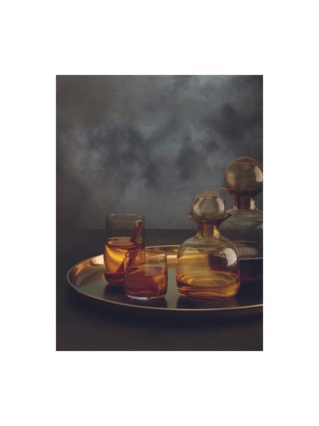 Waterglazen Colored in amberkleur, 6 stuks, Glas, Amberkleurig, transparant, Ø 7 x H 13 cm