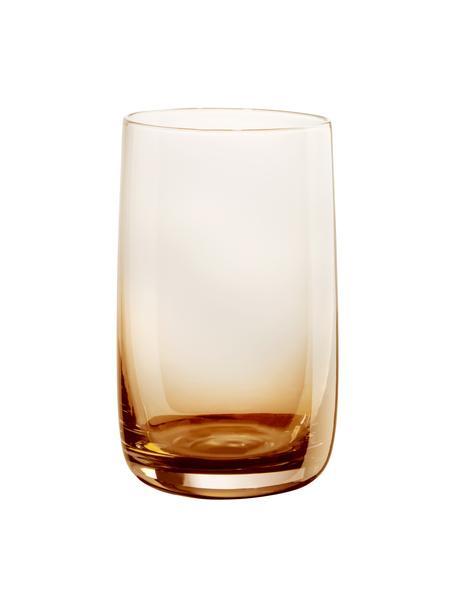 Szklanka do wody Colored, 6 szt., Szkło, Odcienie bursztynowego, transparentny, Ø 7 x W 13 cm