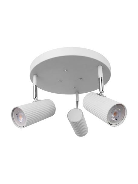 Faretti da soffitto bianchi Hubble, Paralume: metallo rivestito, Baldacchino: metallo rivestito, Bianco, cromo, Ø 25 x Alt. 16 cm
