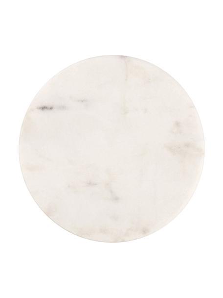 Marmeren onderzetters Guda in wit, 4 stuks, Marmer, Wit, Ø 10 cm