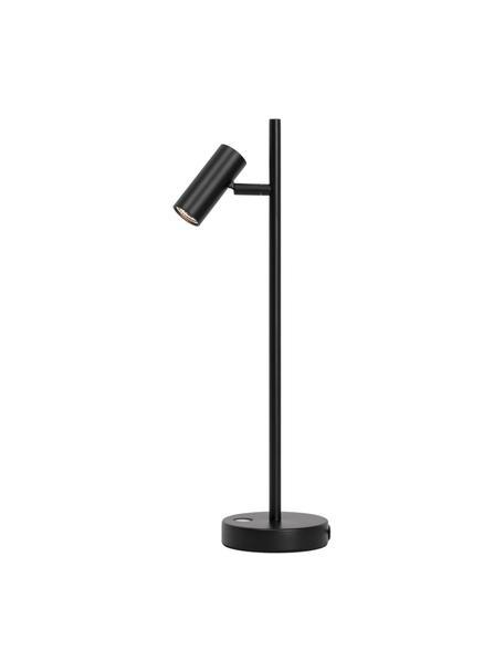 Lampada da tavolo a LED Omari, Paralume: metallo rivestito, Base della lampada: metallo rivestito, Nero, Larg. 10 x Alt. 40 cm