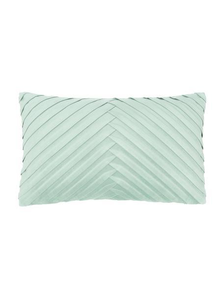 Poszewka na poduszkę z aksamitu Lucie, 100% aksamit (poliester), Zielony, S 30 x D 50 cm