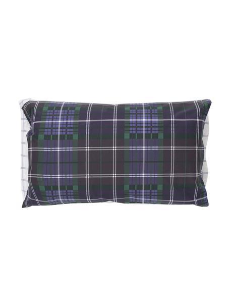 Fundas de almohada Tartan Check, 2uds., 50x85cm, 100%algodón El algodón da una sensación agradable y suave en la piel, absorbe bien la humedad y es adecuado para personas alérgicas, Azul, verde, lila, blanco, An 50 x L 85 cm