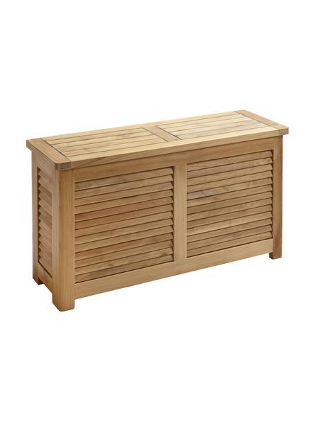 Baúl estrecho de jadín de madera Storage, Estructura: teca, pulida, Teca, An 90 x Al 48 cm