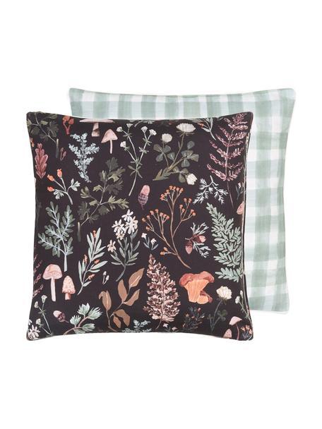 Designer Wende-Kissenhülle Mushroom von Candice Gray, 100% Baumwolle, GOTS zertifiziert, Mehrfarbig, 45 x 45 cm