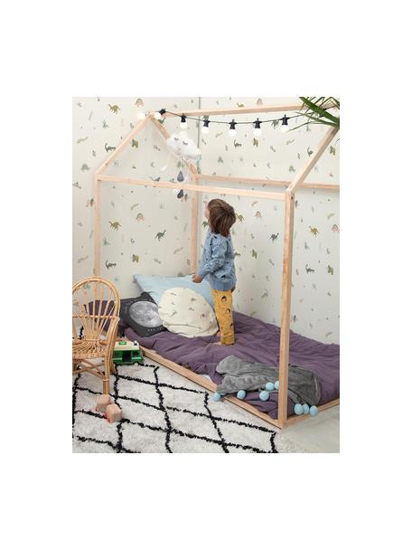 Dosel para cama infantil Home, Madera de haya vaporizada, Beige, An 199 x Al 170 cm