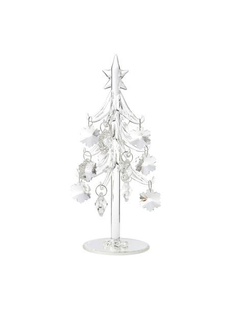 Figura decorativa artesanal pino Tree, Vidrio, Transparente, Ø 10 x Al 20 cm