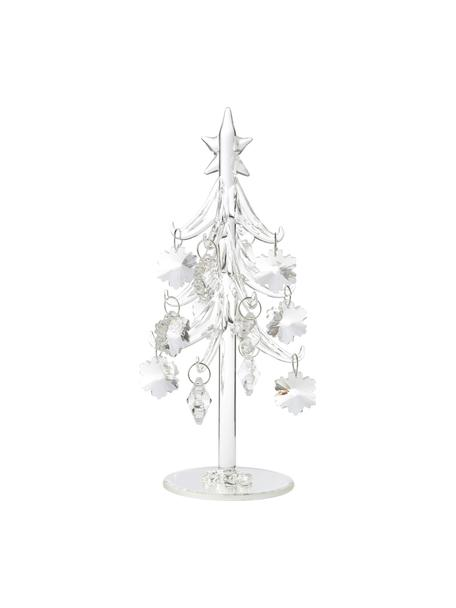 Ręcznie wykonana dekoracja Tree, Szkło, Transparentny, Ø 10 x W 20 cm