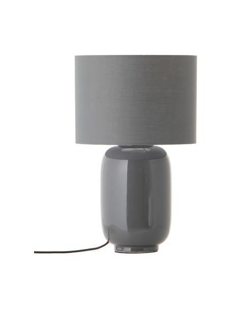 Lampa stołowa z ceramiki Cadiz, Szary, Ø 28 x W 43 cm