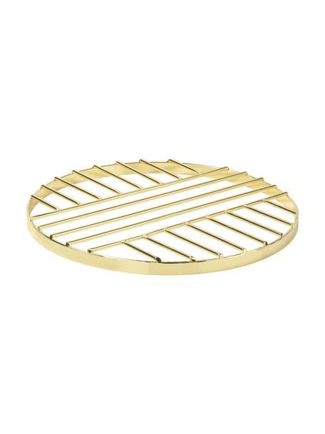 Panonderzetter Thrive, Gecoat metaal, Messingkleurig, Ø 20 cm
