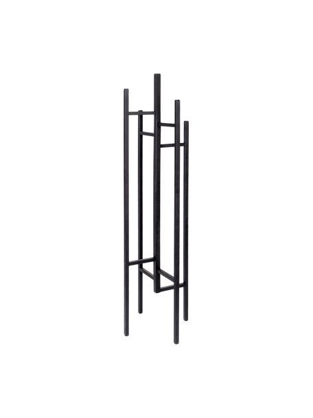 Perchero de pie Eigen, 5 ganchos, Madera de roble maciza y pintada, Negro, An 47 x Al 175 cm