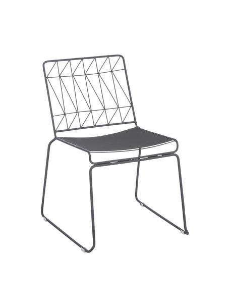 Krzesło balkonowe Bueno, Metal powlekany, Szary, S 55 x W 77 cm