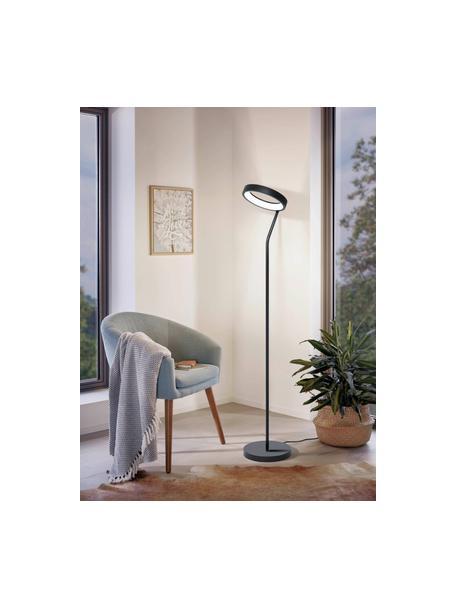 Lampada da terra a LED dimmerbile Marghera, Paralume: acciaio rivestito, Struttura: acciaio rivestito, Nero, Larg. 31 x Alt. 169 cm
