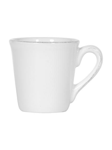 Espressotassen Constance im Landhaus Style, 2 Stück, Steingut, Weiß, Ø 8 x H 6 cm
