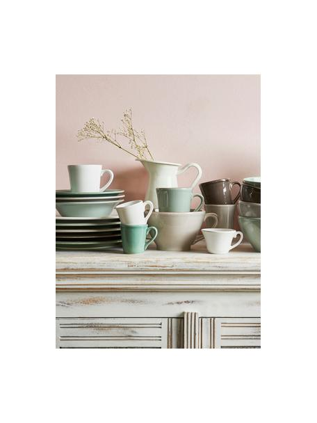 Espresso kopjes Constance in landelijke stijl, 2 stuks, Keramiek, Wit, Ø 8 x H 6 cm