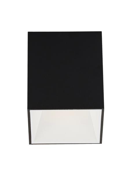 LED plafondspot Marty in zwart-wit, Lampenkap: gepoedercoat metaal, Zwart, wit, 10 x 12 cm