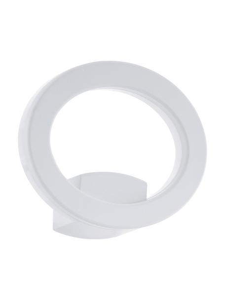 Applique bianca a LED da esterno Emollio, Paralume: alluminio, Bianco, Larg. 20 x Alt. 16 cm