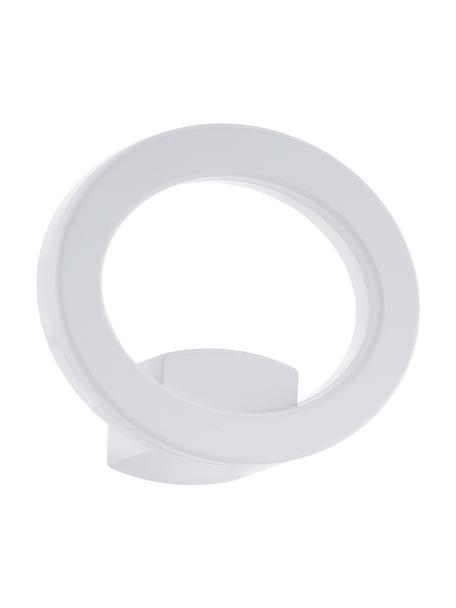 Outdoor LED wandlamp Emollio in wit, Lampenkap: aluminium, Diffuser: kunststof, Wit, 20 x 16 cm