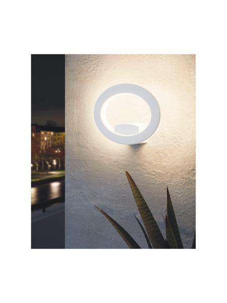 LED-Aussenwandleuchte Emollio in Weiss, Lampenschirm: Aluminium, Weiss, 20 x 16 cm