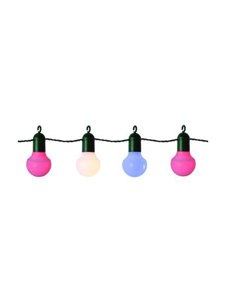 LED lichtslinger Hooky, 1070 cm, 20 lampions, Lampions: kunststof, Roze, wit, blauw, L 1070 cm