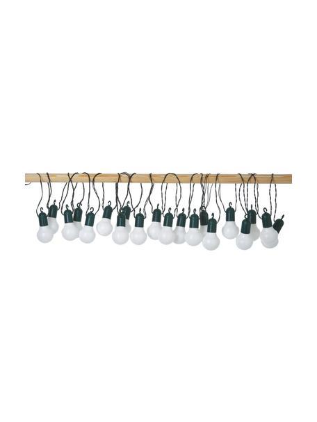 Outdoor LED-Lichterkette Hooky, 1070 cm, 20 Lampions, Lampions: Kunststoff, Rosa, Weiß, Blau, L 1070 cm
