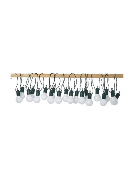 Zewnętrzna girlanda świetlna LED Hooky, 1070 cm i 20 lampionów, Blady różowy, biały, niebieski, D 1070 cm