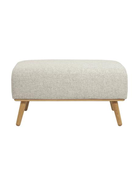 Taburete de lana Archie, Tapizado: 100%lana 30.000ciclos , Estructura: madera de pino, Patas: madera de roble aceitada, Beige, dorado, An 87 x Al 45 cm
