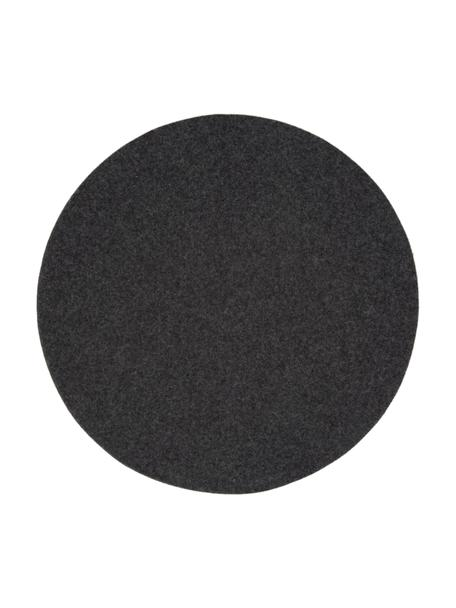 Okrągła podkładka z filcu Leandra, 4 szt., 90% wełna, 10% polietylen, Antracytowy, 0.5 l