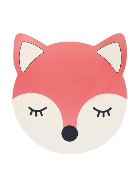 Placemat Fox, Kunststof, Rood, wit, zwart, 38 x 38 cm