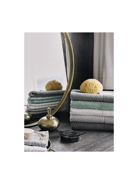 Handdoek Katharina in verschillende formaten, met honingraatpatroon, Groen, Douchehanddoek