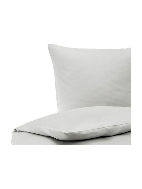 Pościel z satyny bawełnianej Comfort, Jasny szary, 135 x 200 cm