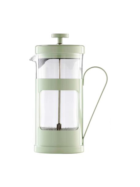 Cafetière Monaco in mintgroen, Gelakt edelstaal, borosilicaatglas, Transparant, mintkleurig, 1 L