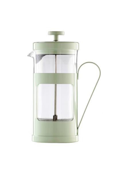 Caffettiera verde menta Monaco, Acciaio inossidabile verniciato, vetro borosilicato, Trasparente, menta, 1 L