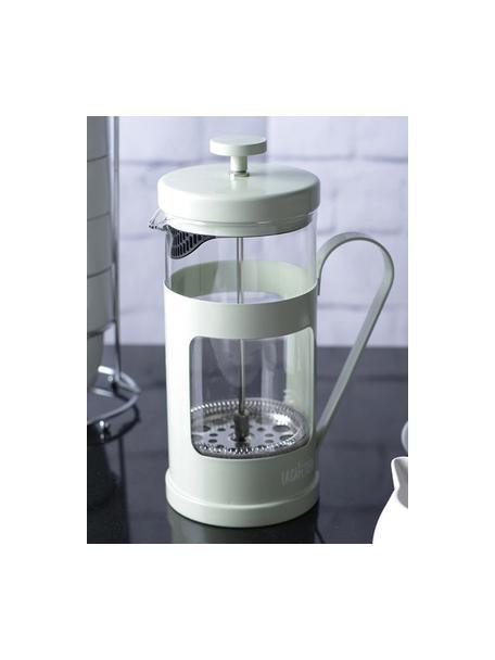 Cafetera Monaco, Acero inoxidable pintado, vidrio borosilicato, Transparente, menta, 1 L