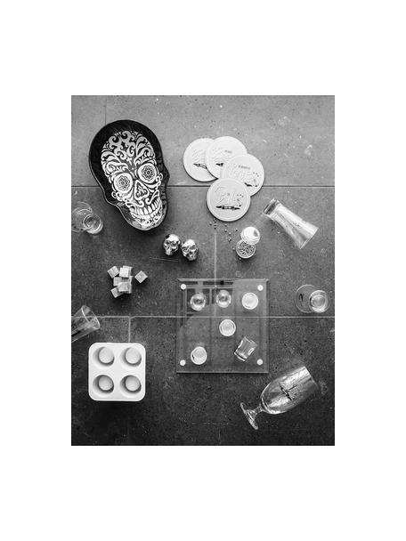 Whiskey stenen Rocking, 9 stuks, Speksteen, mousseline, Grijs, 2 x 2 cm