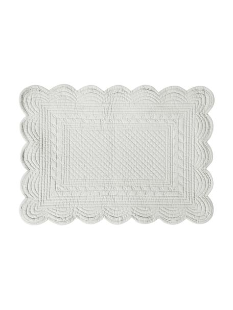 Tovaglietta americana in cotone Boutis 2 pz, 100% cotone, Grigio chiaro, Larg. 49 x Lung. 34 cm