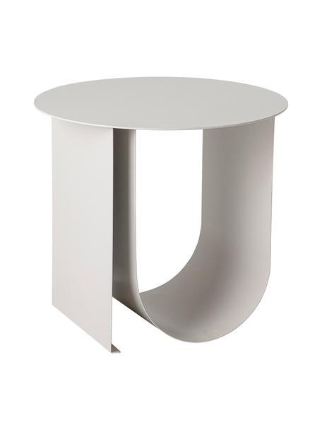 Tavolino moderno in metallo Cher, Metallo rivestito, Grigio, Ø 43 x Alt. 38 cm