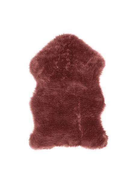 Imitatie schapenvacht Mathilde, glad, Bovenzijde: 65% acryl, 35% polyester, Onderzijde: 100% polyester, Terracotta, 60 x 90 cm