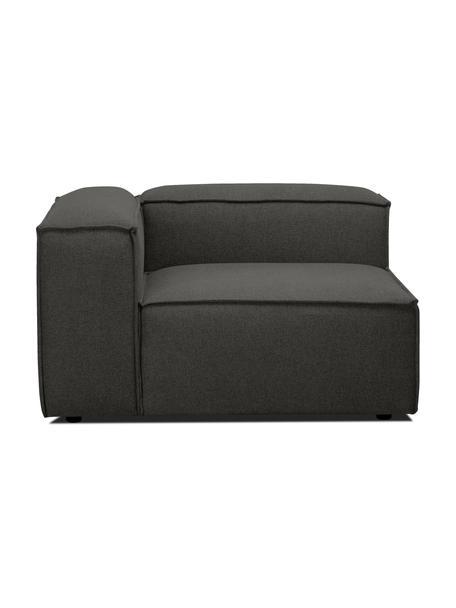 Módulo de esquina sofá Lennon, Tapizado: 100%poliéster Alta resis, Estructura: madera de pino maciza, ma, Patas: plástico Las patas están , Tejido gris antracita, An 119 x F 119 cm