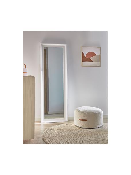 Wandspiegel Romila in wit, Lijst: hout, Wit, 52 x 153 cm