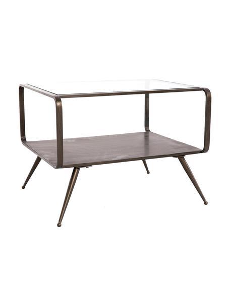 Mesa de centro Amber, tablero de cristal, Tablero: cristal, Bronce, An 60 x Al 45 cm