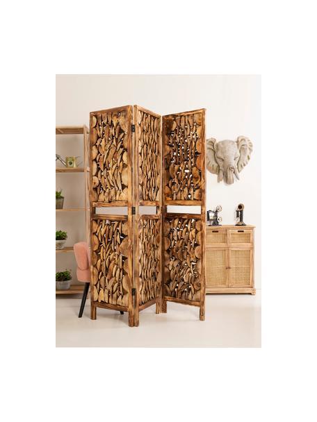 Cómoda Gesina, Estructura: madera de paulownia, Marrón, An 60 x Al 75 cm