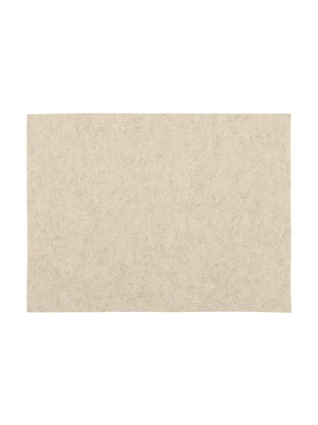 Manteles individuales de fieltro Felto, 2uds., Fieltro (poliéster), Crema, An 33 x L 45 cm