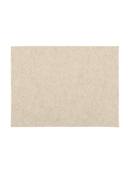 Tischsets Felto aus Filz, 2 Stück, Filz (Polyester), Creme, 33 x 45 cm