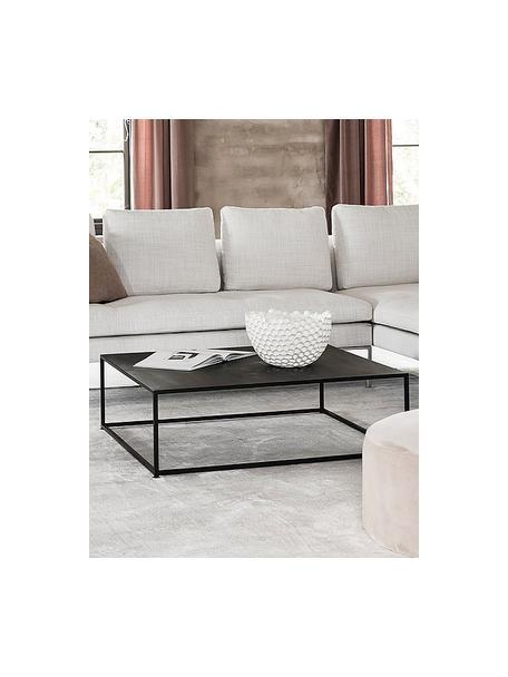 Tavolino da salotto nero Tikota, Metallo verniciato a polvere, Nero, Larg. 100 x Alt. 32 cm