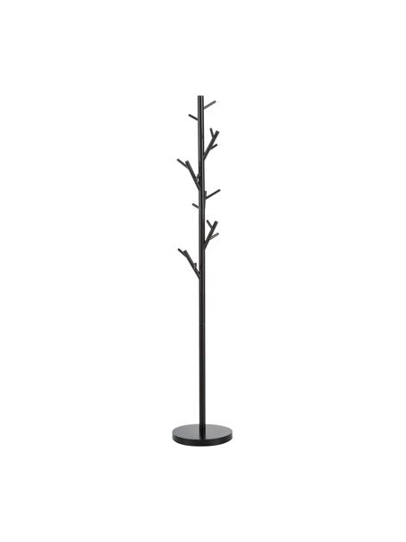 Perchero de pie Tree, 18 ganchos, Acero con pintura en polvo, Negro, Ø 28 x Al 170 cm