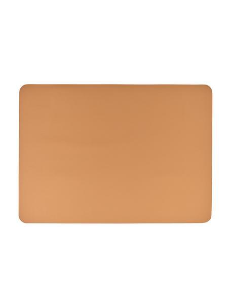 Manteles individuales de cuero sintético Pik, 2uds., Plástico (PVC) es aspecto de cuero, Caramelo, An 33x L 46 cm