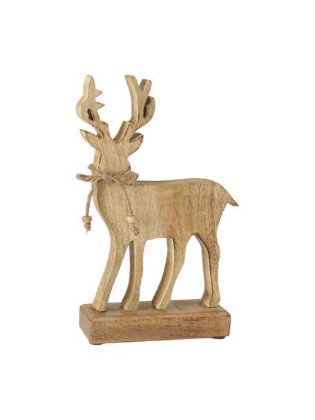 Decoratief hert Forest van hout H 25 cm, Hout, Bruin, 16 x 25 cm